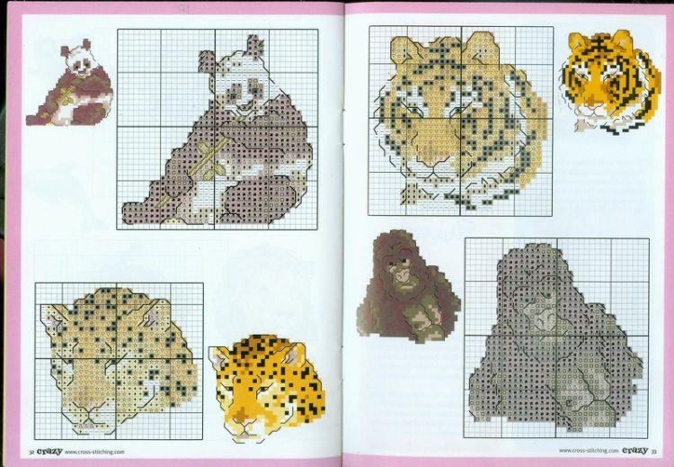 Wild Animals Part 3 Free Cross Stitch Patterns Asorted Animal X