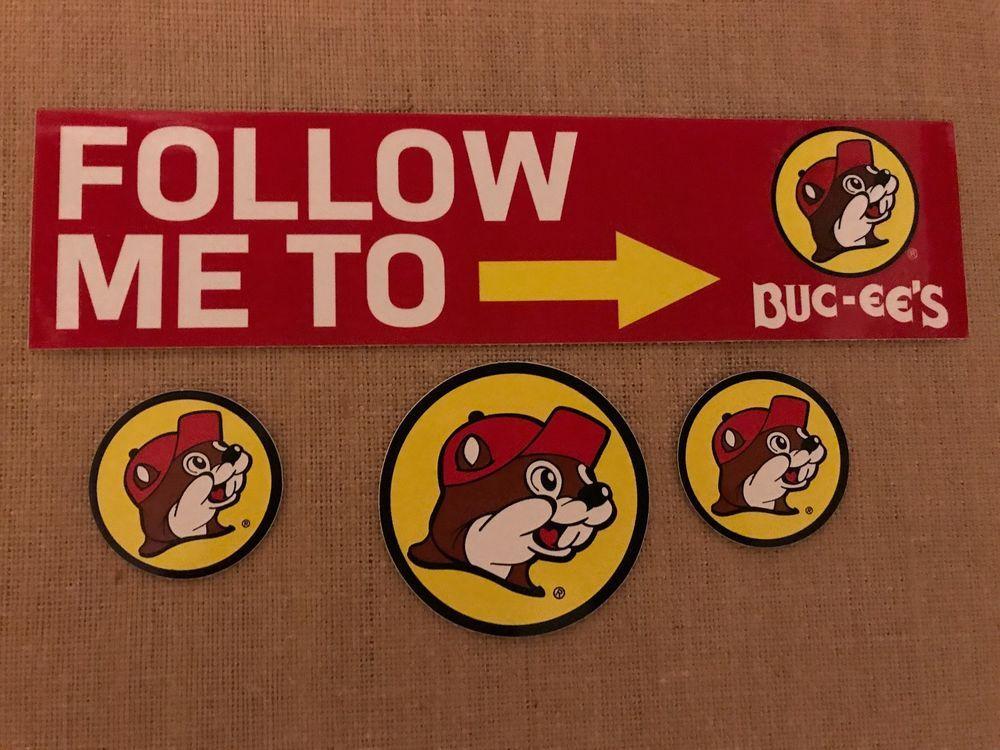 BUCEE'S Beaver 3 Peel & Stick Stickers & 1 Bumper Sticker