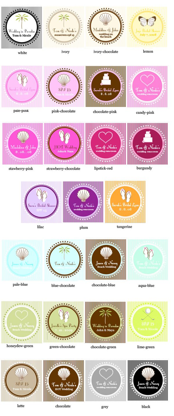 Personalized Wedding Theme Sunscreen | Favors, Personalized wedding ...