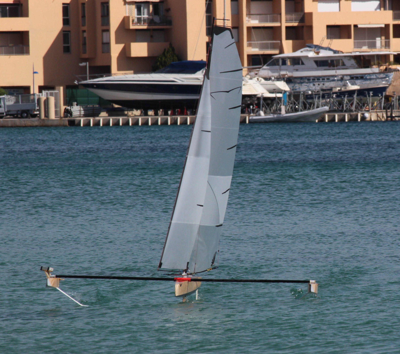 Rc Hydrofoil Sailing Part4 Sailing Model Boats Sailboat Design