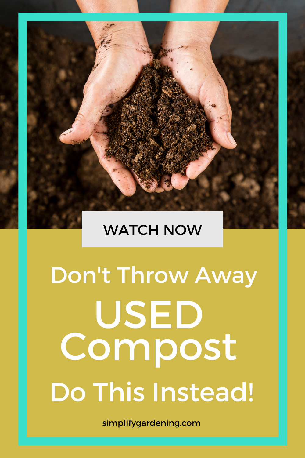 Rejuvenate your compost instead of throwing it away. Make the most of this valuable resource. To many discard old used compost without even knowing it can be used again. #compost #composting #reuse #vegetablegarden #livingsoil #organicgardening #sustainable #gardening #garden #growyourown #usedcompost #rejuvenatecompost #reusecompost #recyclecompost #recycle #organic #mulch #pottingsoil