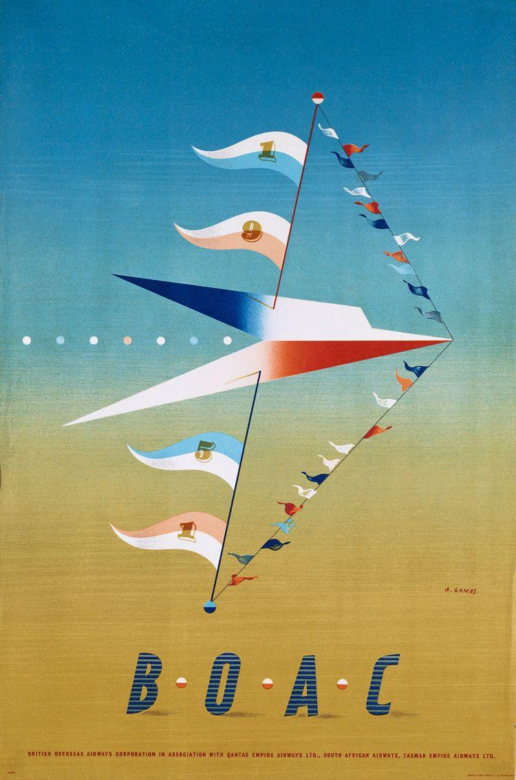 Poster design 1950 - 1950 British Overseas Airways Corporation Abram Games Advertising