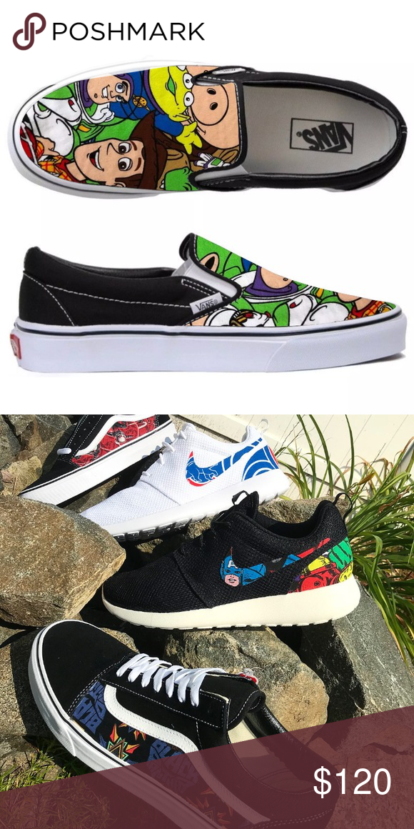 09ff4d5db5c3e7 Vans x Toy story shoes buzz lightyear shoes custom 2-3 Week Shipping Most  Likely closer to two weeks