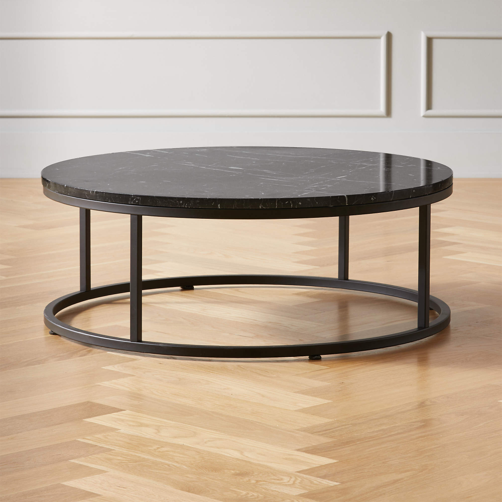Smart Round Black Marble Coffee Table Reviews Cb2 In 2021 Black Marble Coffee Table Black Coffee Tables Modern Coffee Tables [ 1000 x 1000 Pixel ]