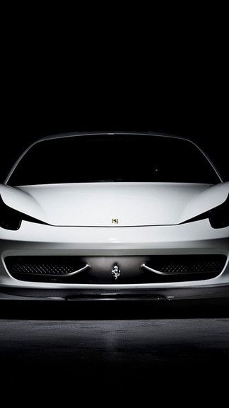 White Ferrari 458 Front Iphone 6 6 Plus Wallpaper White