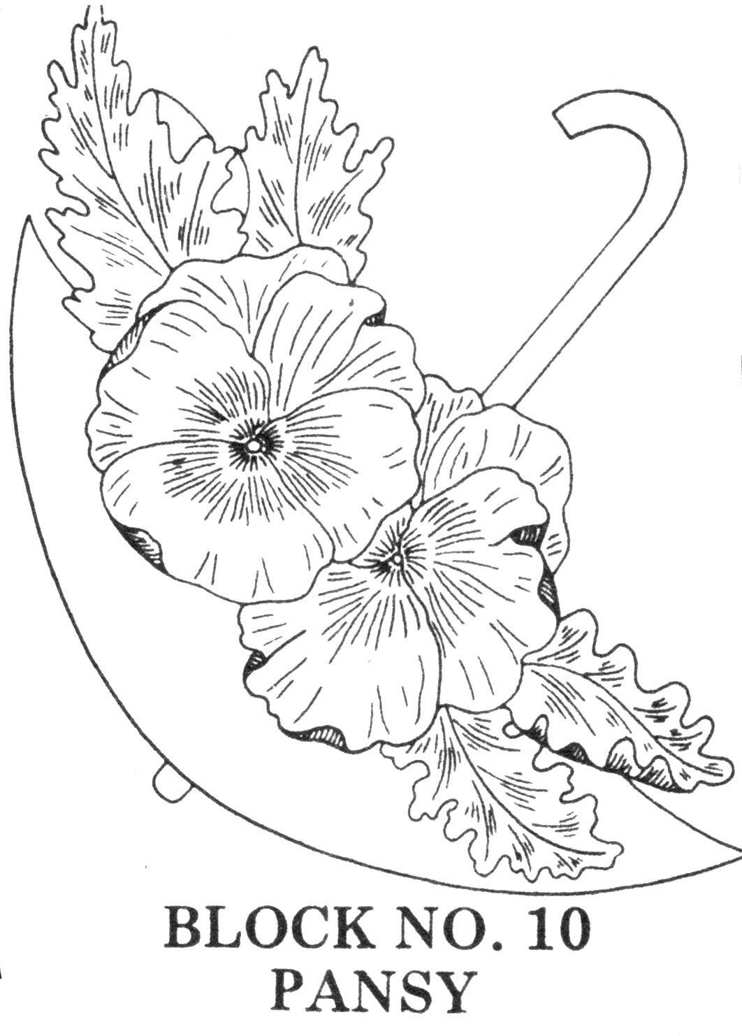Flower arrangement coloring pages - Umbrella Bouquets Embroidery Applique