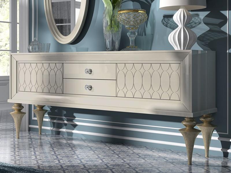 Buffet 2 Portes Avec 2 Tiroirs Mod Ga1010 G Sideboard Furniture Luxury Furniture Furniture