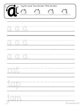 Short Vowel CVC Phonics Handwriting Worksheets | Handwriting Tips ...