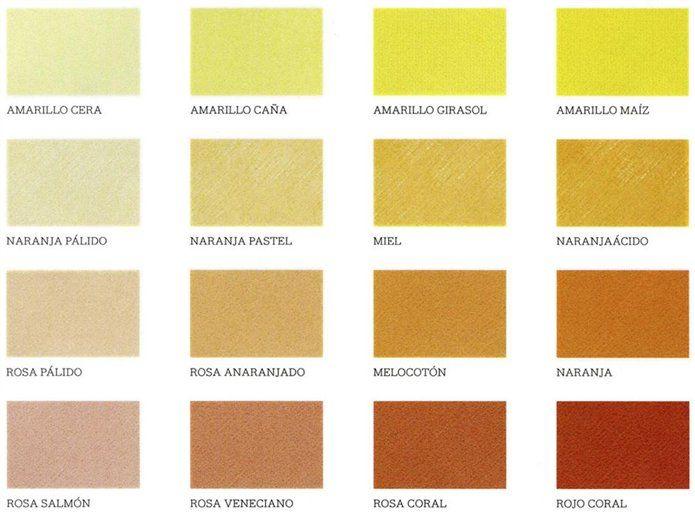 Amarillos los que tienen mayor contenido de rojo son - Paleta de colores neutros ...