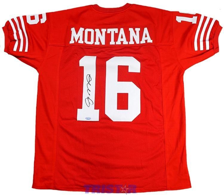 sports shoes 915ee 96ac0 Joe Montana Autographed San Francisco 49ers Custom Jersey ...