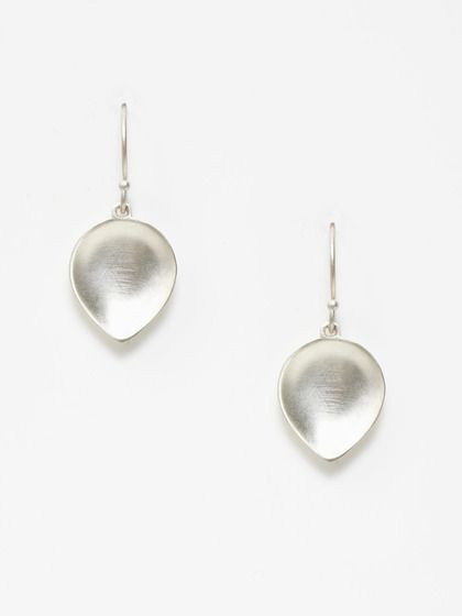 Silver Lotus Dish Drop Earrings by Me Silver and 10K on Gilt.com