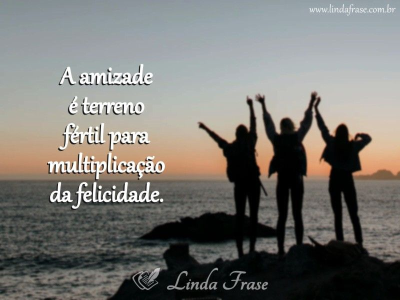 A Amizade Atrai Felicidade Frases Pensamentos Mensagem Reflexão
