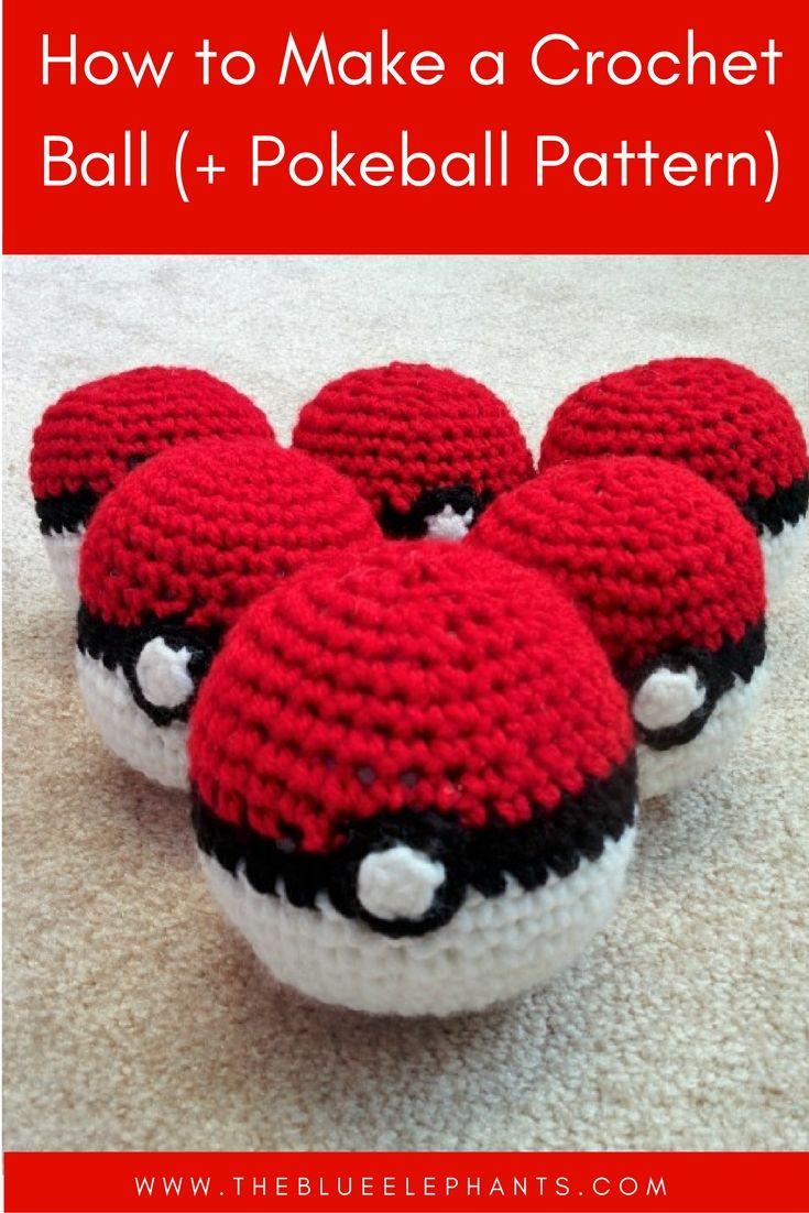 How to Make A Crochet Ball (+Pokeball Pattern) | Pinterest | Tejido ...
