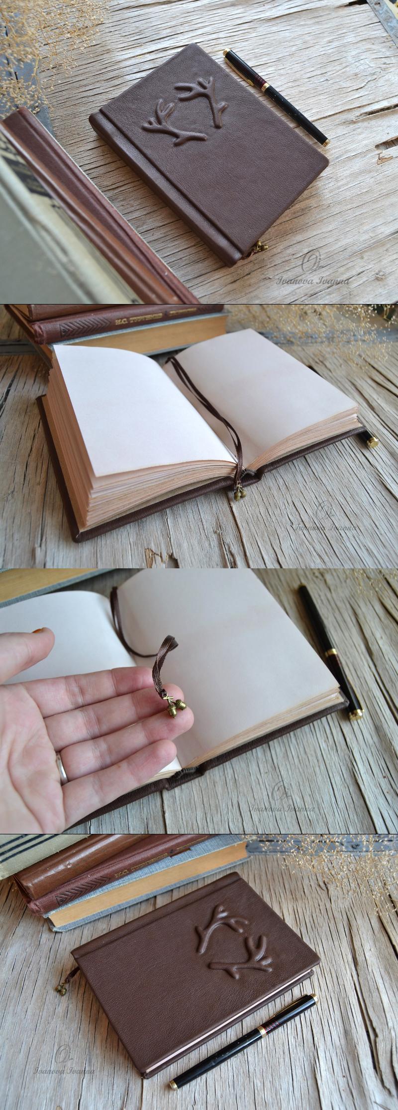 Handmade Brown Leather Journal Handcraft Bookbinding Leather Journal Brown Leather Journal Book Binding Design