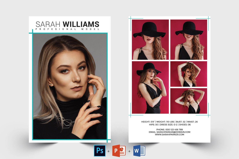 Modeling Comp Card Model Agency Zed Card Photoshop Ms Etsy Model Comp Card Card Model Photoshop