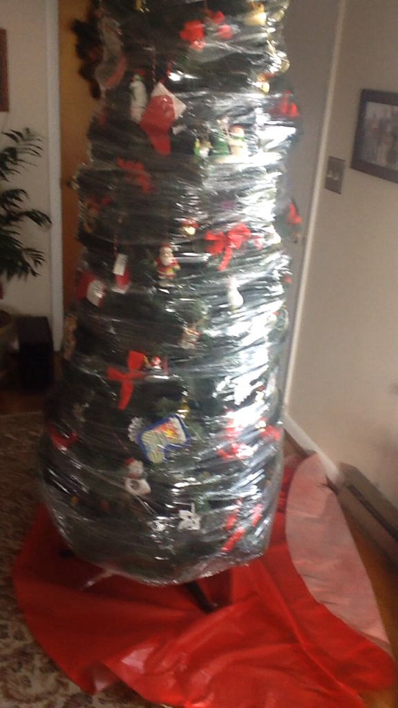 shrink wrapping my decorated christmas tree i made a you tube video of my - Videos Of Decorated Christmas Trees