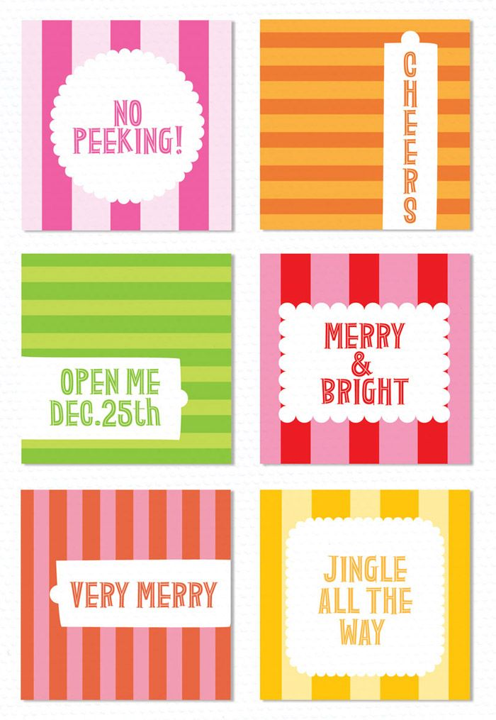 Free Printable Christmas Gift Tags | *Printable Organization or ...