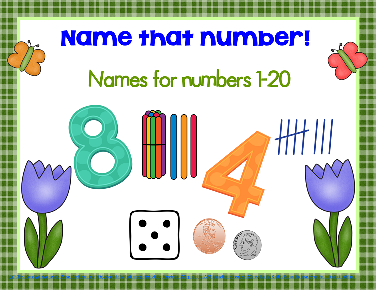 Free Spring Number Names Match 120 Free sorting cards or