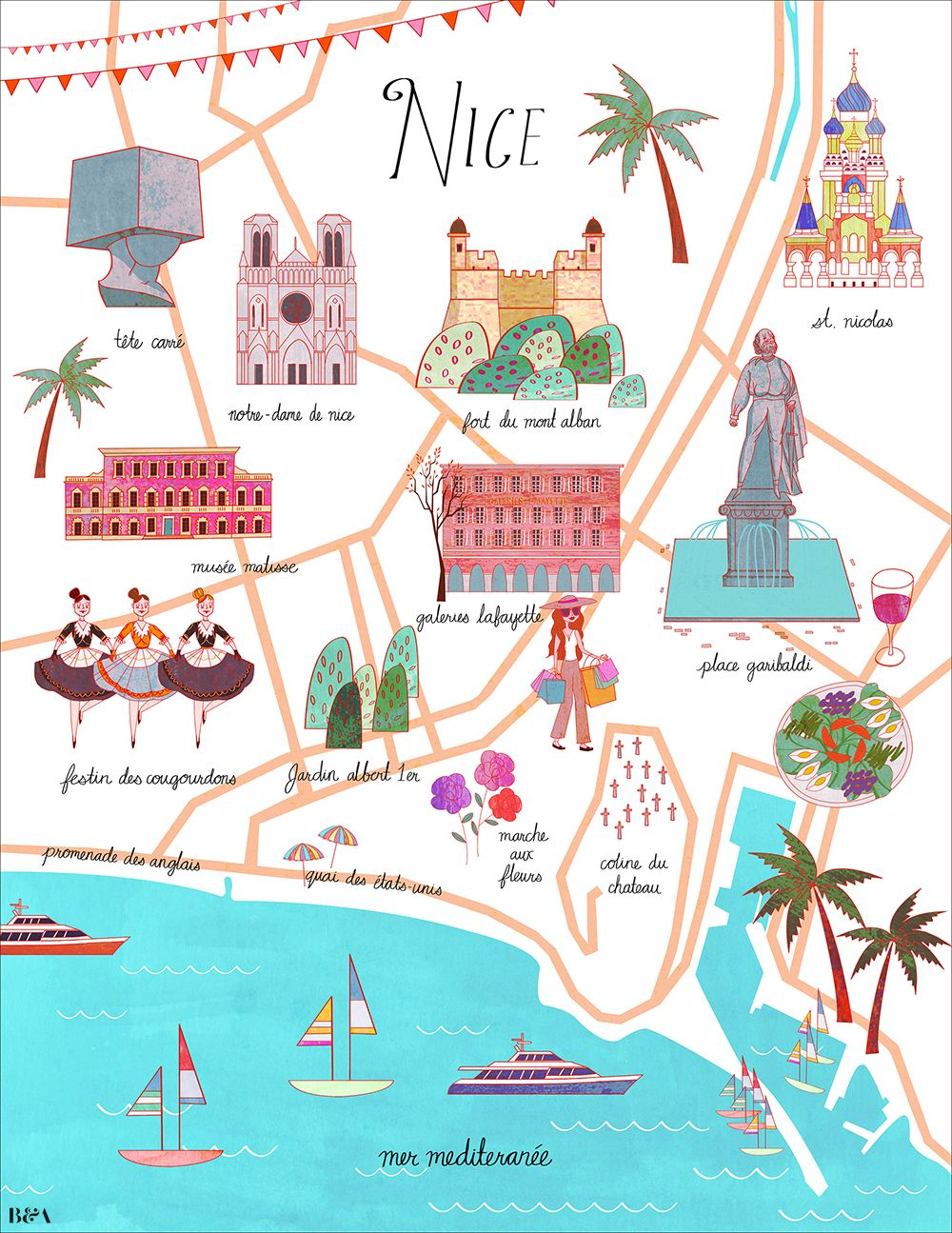 Josie Portillo Map of Nice Euro 2017 Pinterest Nice France