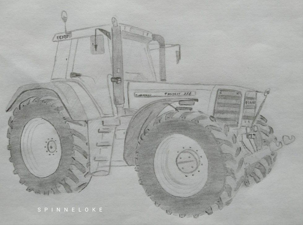Potloodtekening Fendt Favorit 822 By Spinneloke Fendt Fendt Traktor Zeichnung