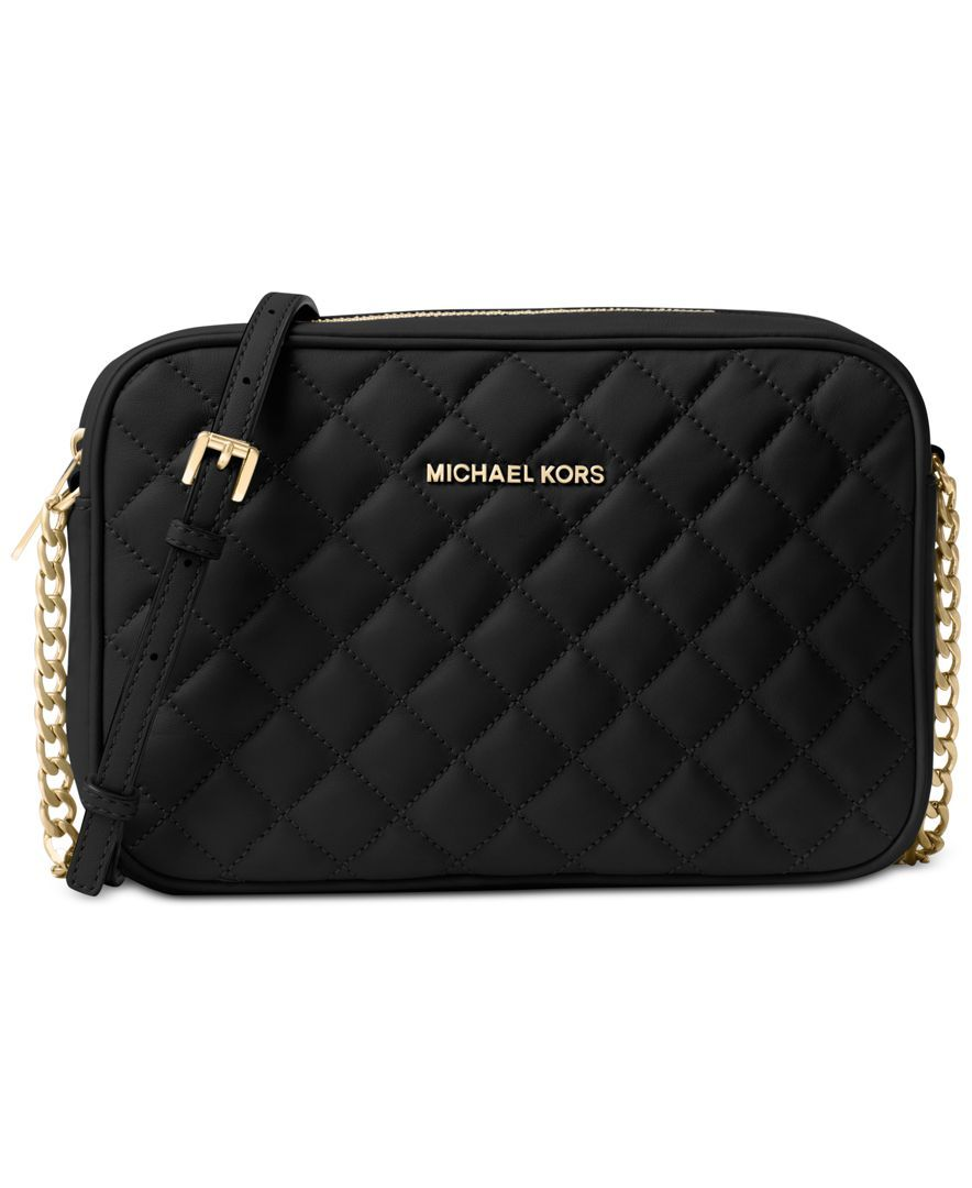 64169c15a98f8 Michael Michael Kors Jet Set Travel Large East West Quilted Crossbody