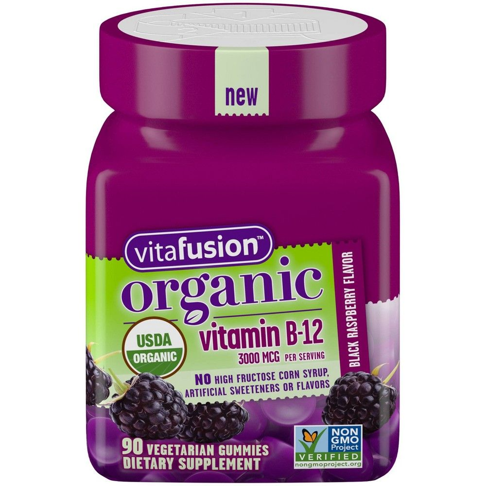 Vitafusion Organic Vitamin B12 Gummies Berry 90ct