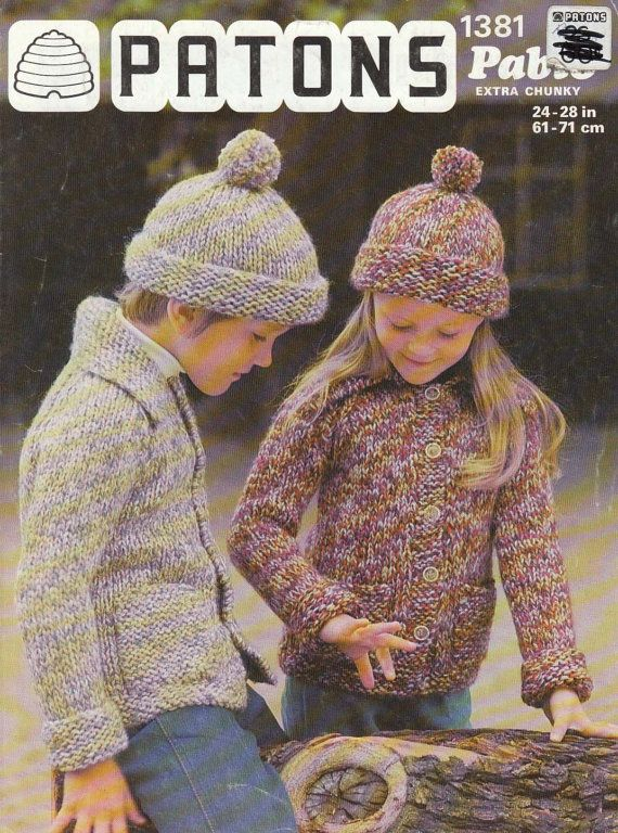 Patons Knitting Pattern 1381 to knit by LandOfLivingSkies on Etsy, $3.75