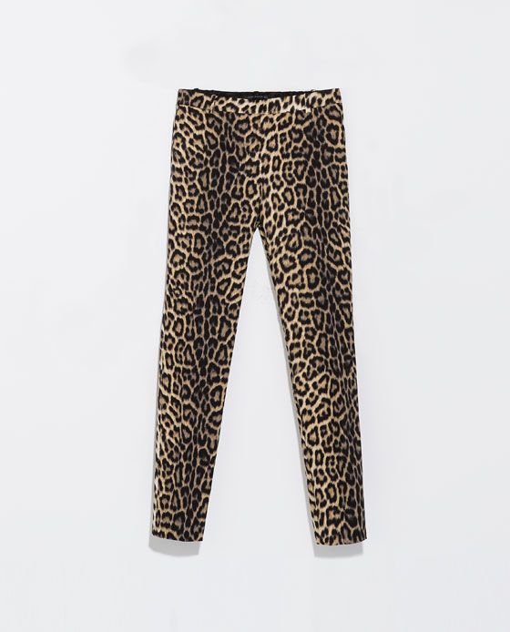 Zara leoparden hose