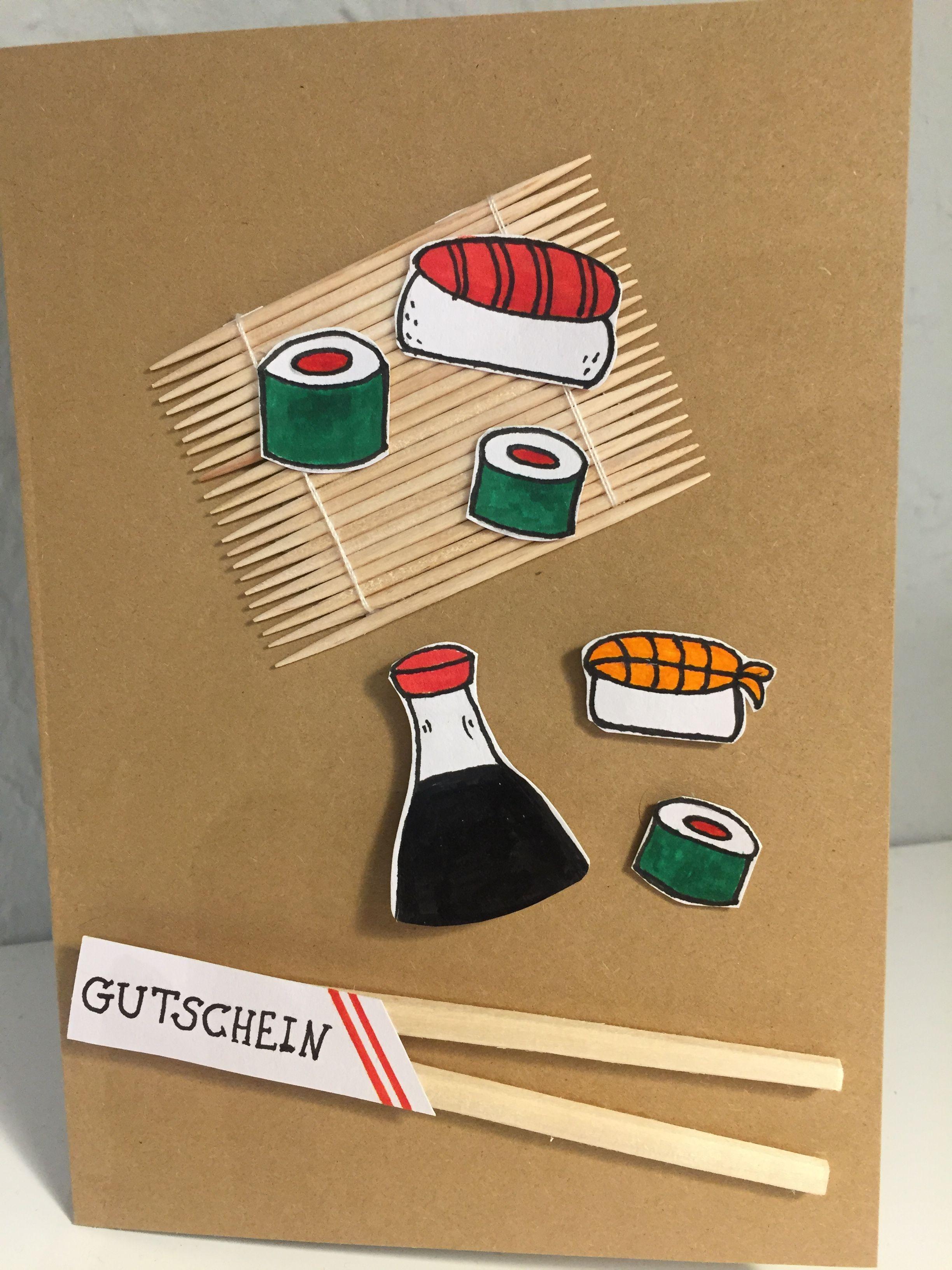 Fur Sushi Liebhaber Gutschein Basteln Gutschein Geschenke Geschenk Fur Bruder