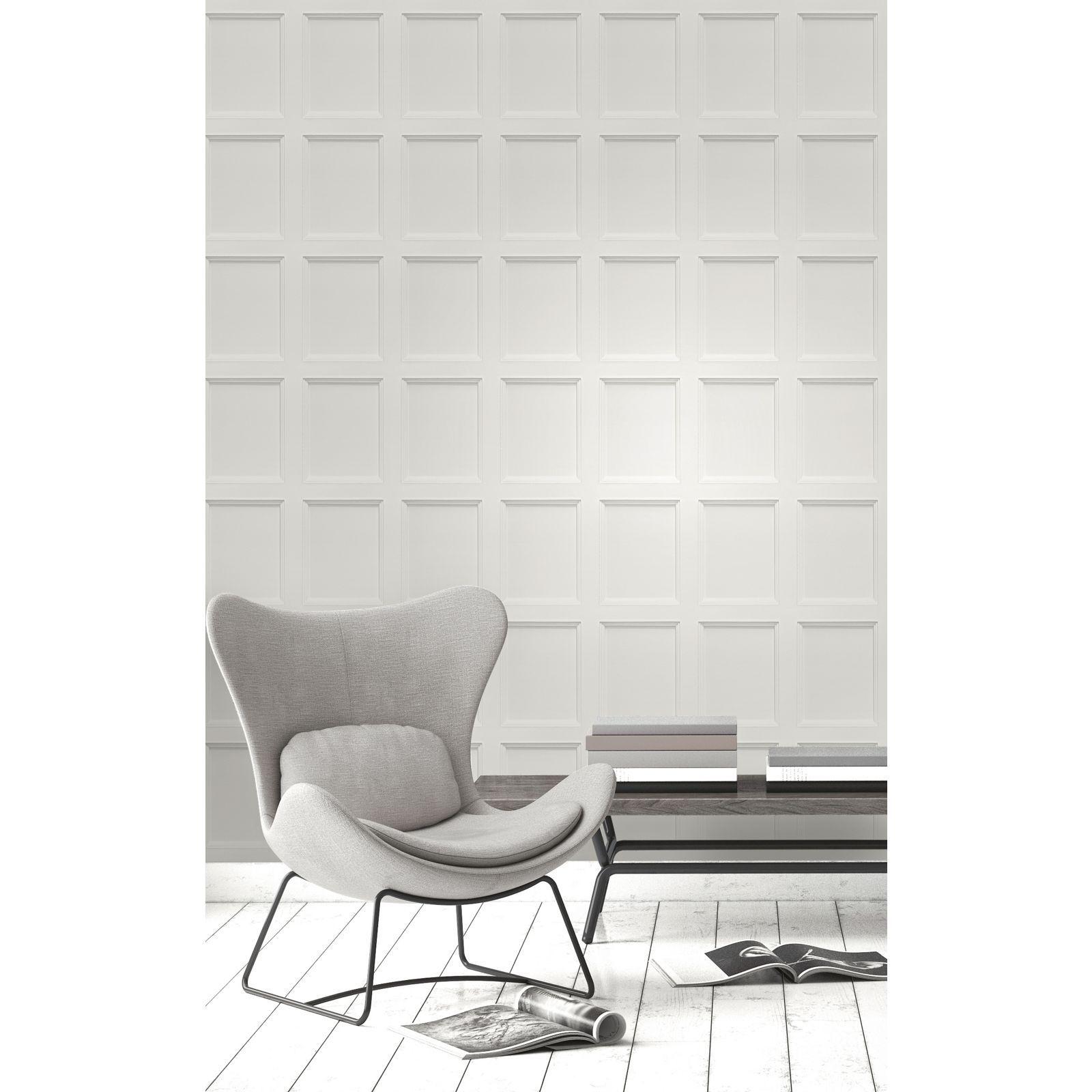 12 99 Fine Decor Wooden Panel Grey Wallpaper At Homebase C