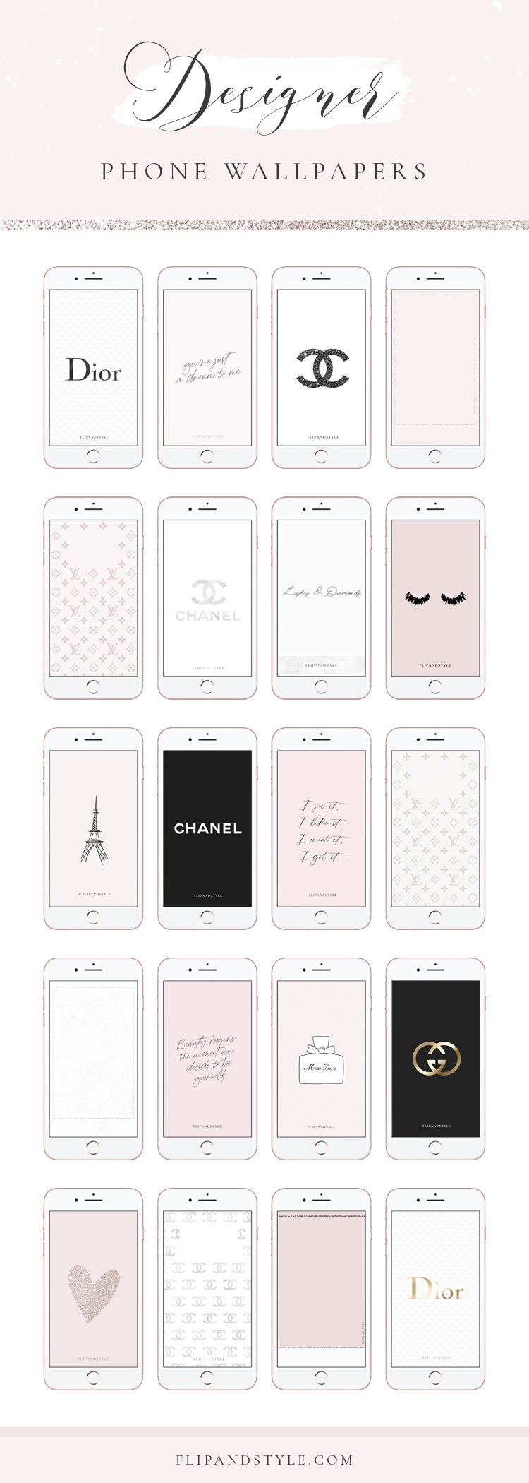 Free Designer Wallpapers - Phone Backgrounds by FLIPANDSTYLE