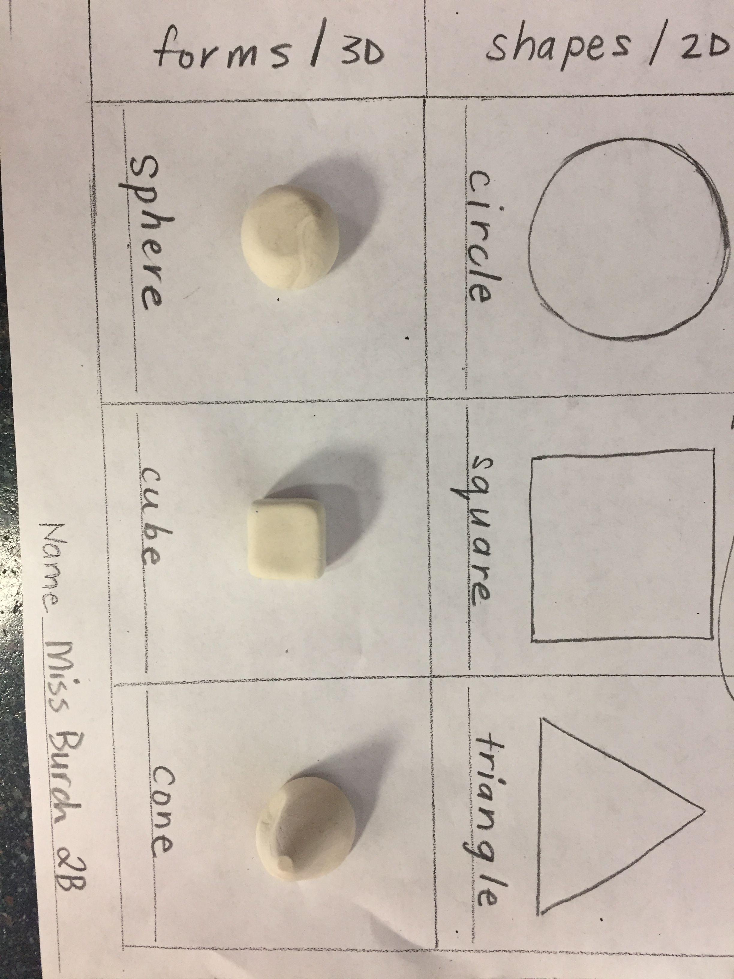 Shape And Form Worksheet