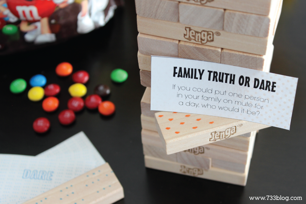 Family Game Night Printable Game | Truth or dare jenga ...