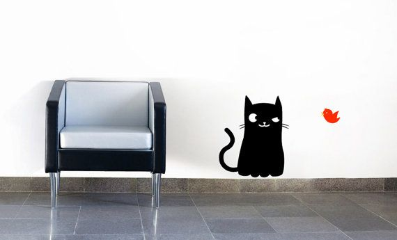 Funny Cat Wall Decal Sticker By AADecals On Etsy
