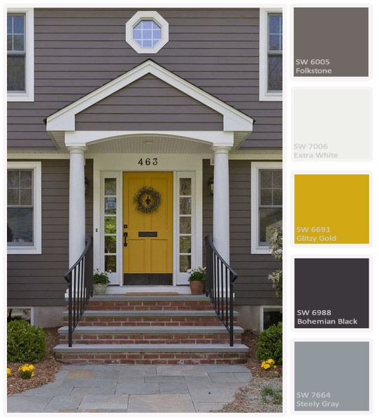 Make your neighbors jealous 9 bold front door colours - Front door colors for grey house ...