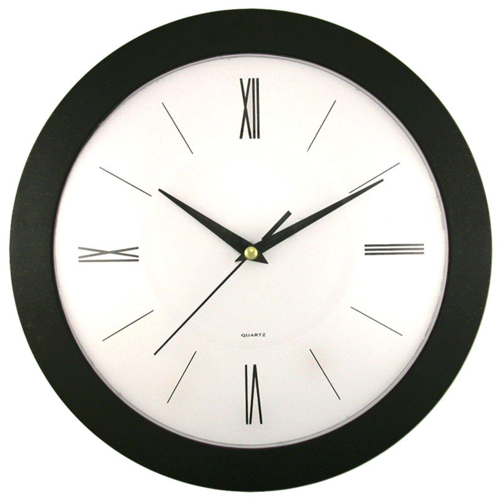 Heidelberg 12 Inch Wall Clock Black Wall Clock Wall Clock Modern Wall Clock