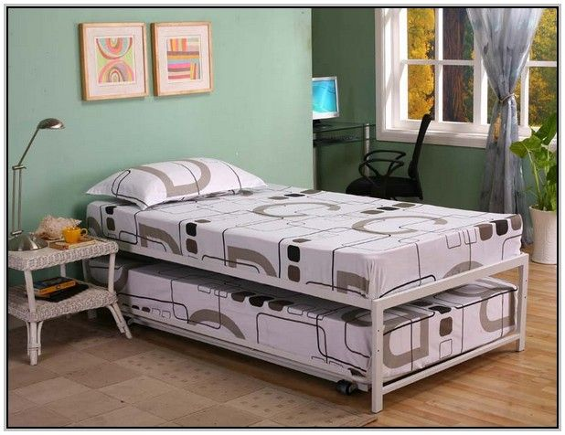 Pop Up Trundle Bed Twin To King Daybed Bedding Trundle