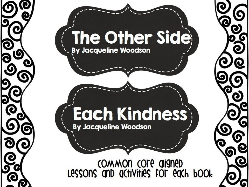 Each Kindness And The Other Side Picture Book Lessons Tpt