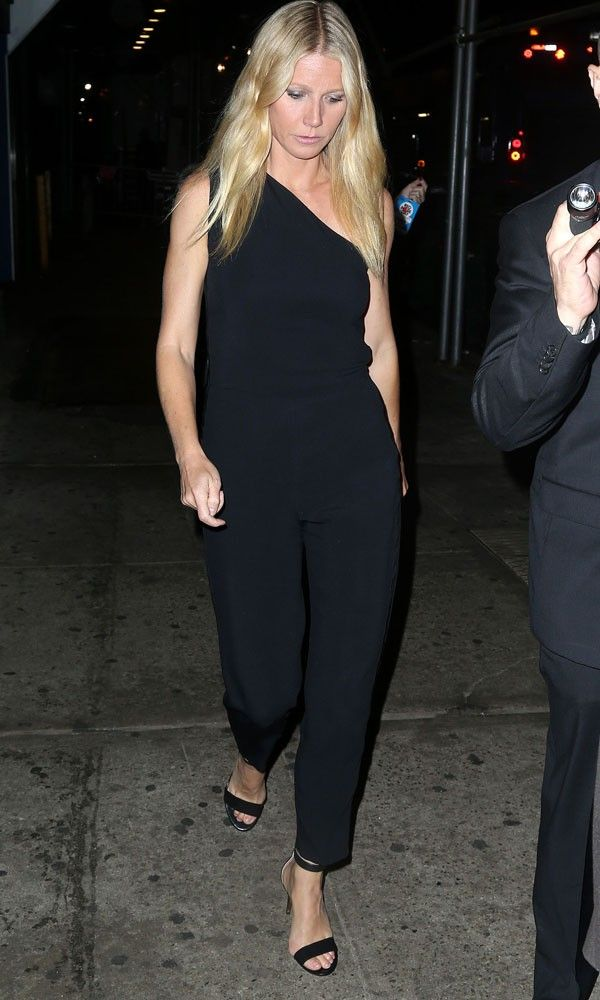 Gwyneth Paltrow Shows Simplicity Is Chic In A Classic Black Jumpsuit