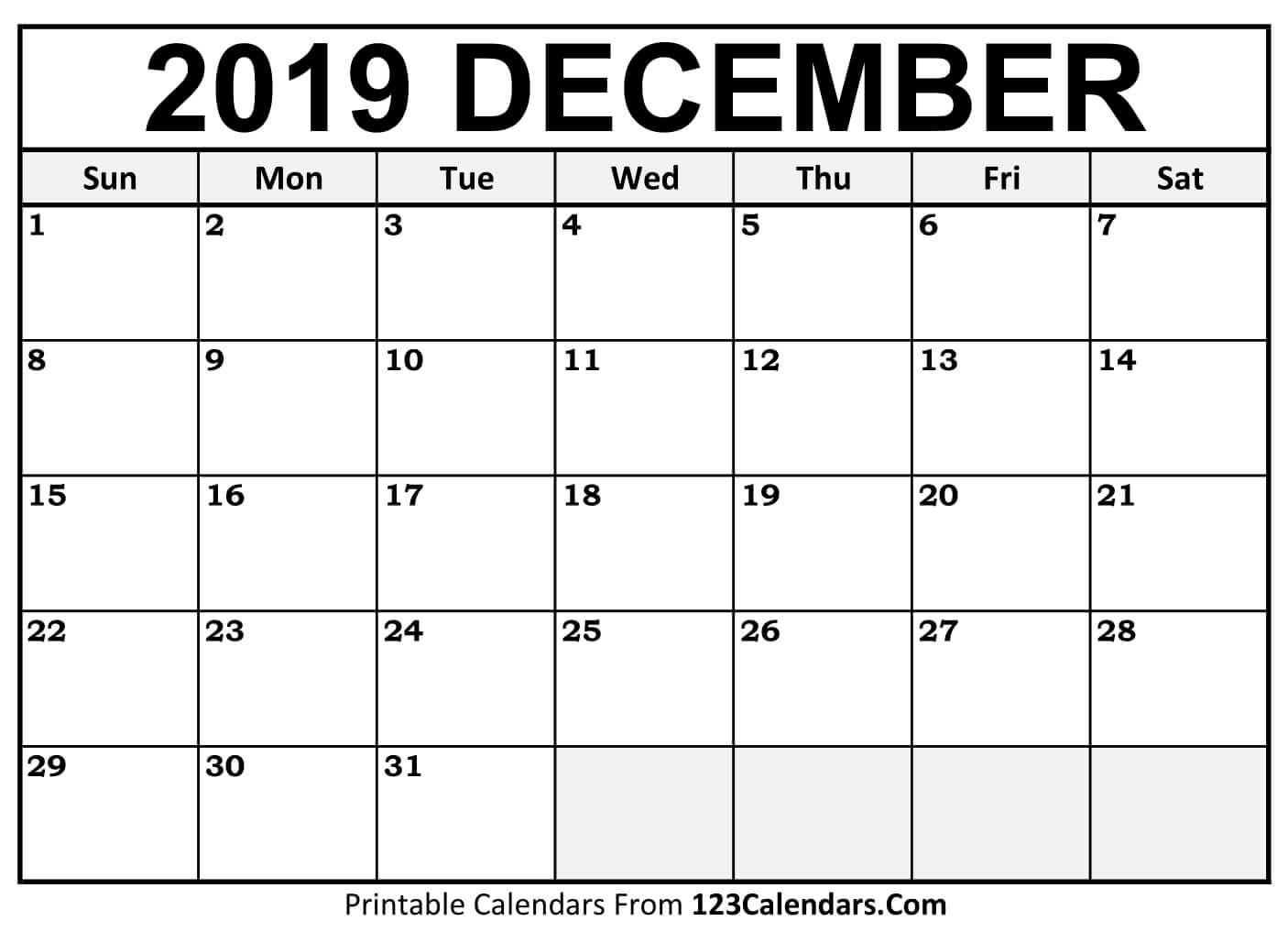 December 2019 Calendar Excel Calendar 2019 Printable Calendar Printables August Calendar