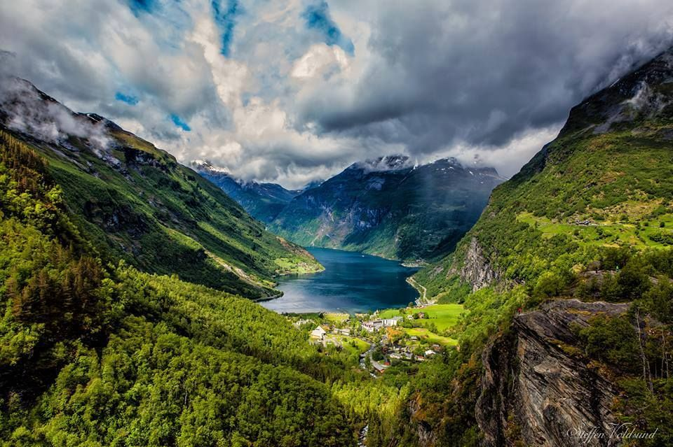 Cloudy view of Geirangerfjord , Norway #cloud #geirangerfjord #norway