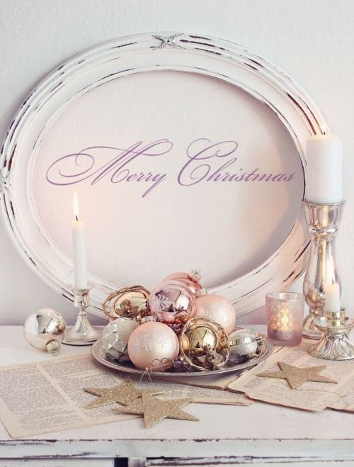 Weihnachtsdeko Auf Teller.Hübsche Weihnachtsdeko Idee Pastellfarben Silber Und Gold