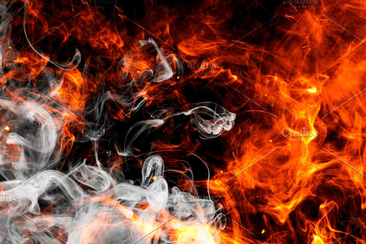 Fire Flames Background Sponsored Paid Flames Smoke Dense Fiery Background Photo Stock Photos