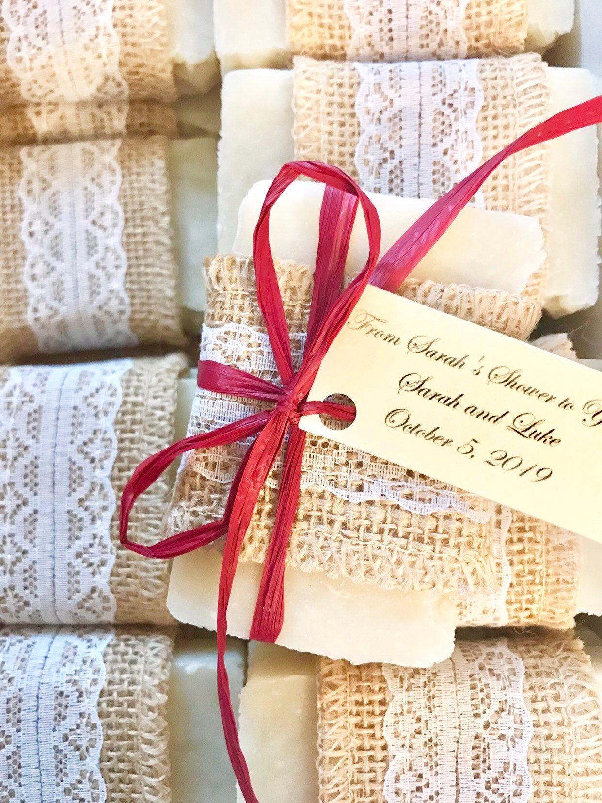 Winter Rustic Soap Favors / SET OF 10 / Wedding / Bridal