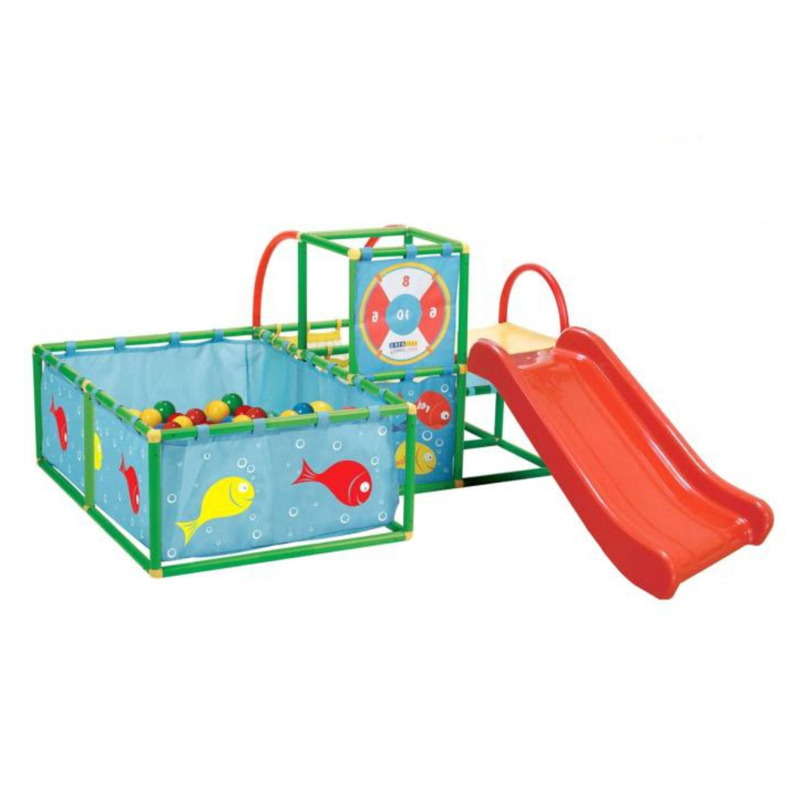 Toddler Gym Set Play Ball Pit Slide Active Indoor Activity Center