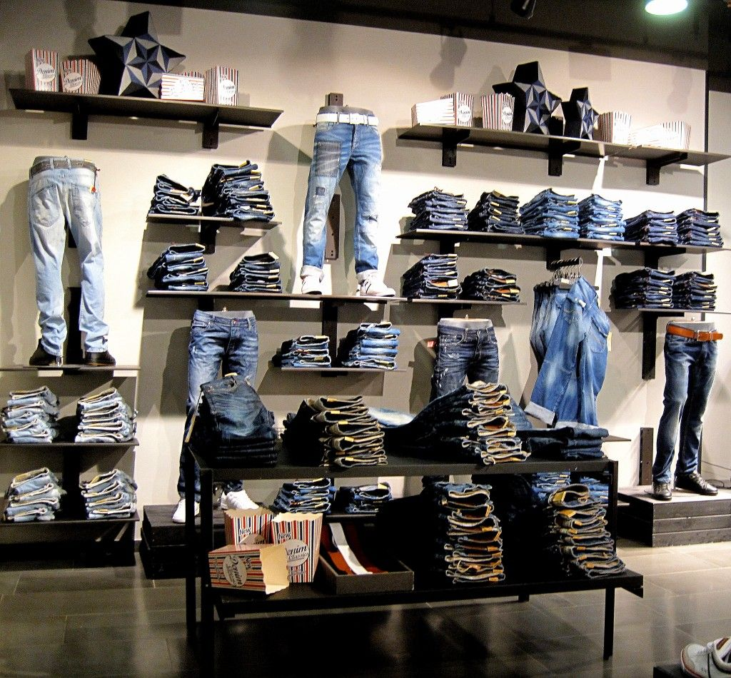 Great merchandising idea for jeans | For the Guys | Pinterest | Merchandising ideas Visual ...