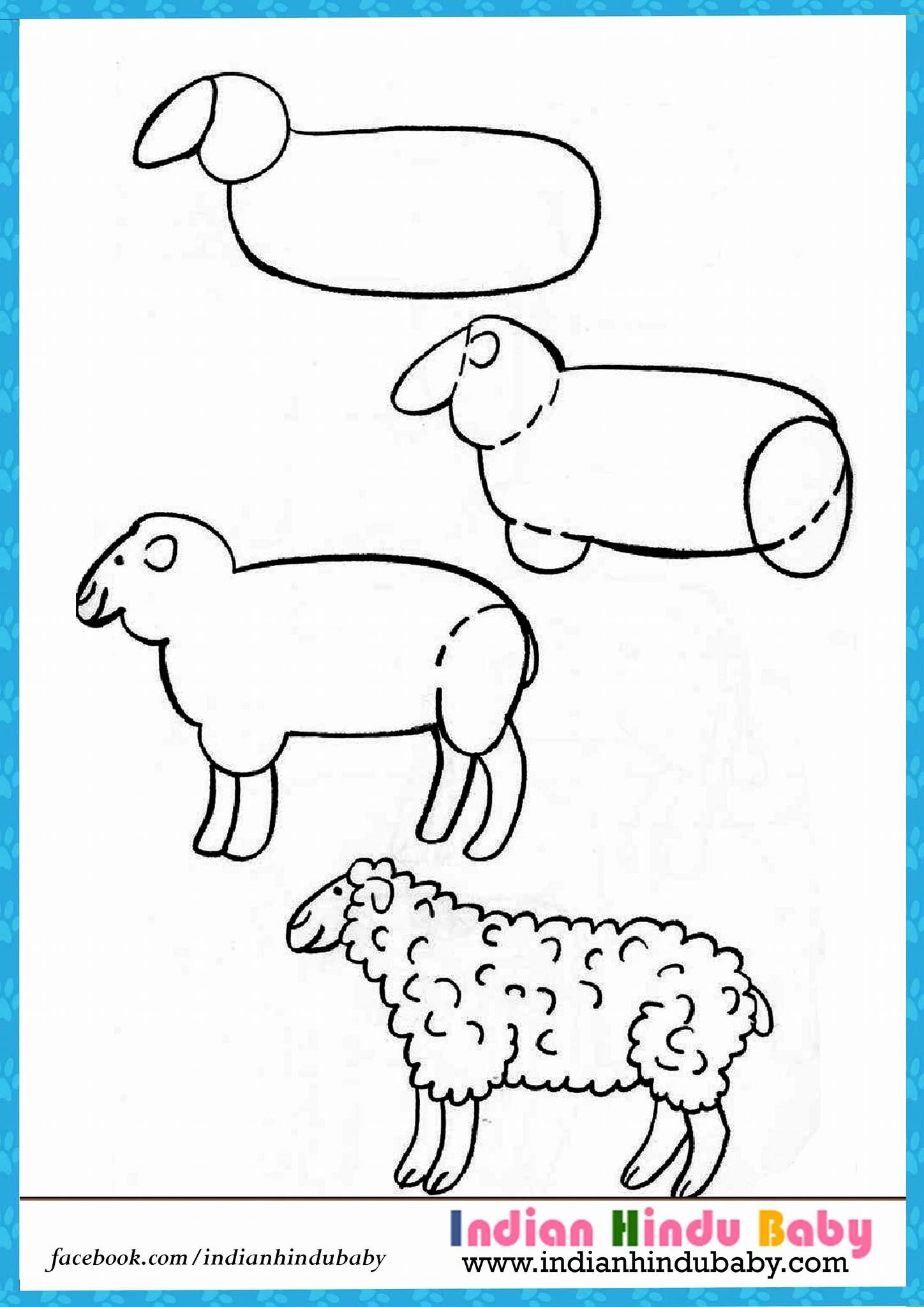 Uncategorized Simple Kids Drawing teach your kid to draw sheep with simple drawing tips https httpswww