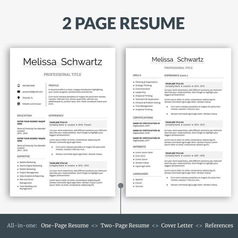 Creative Resume Template Professional Resume Template