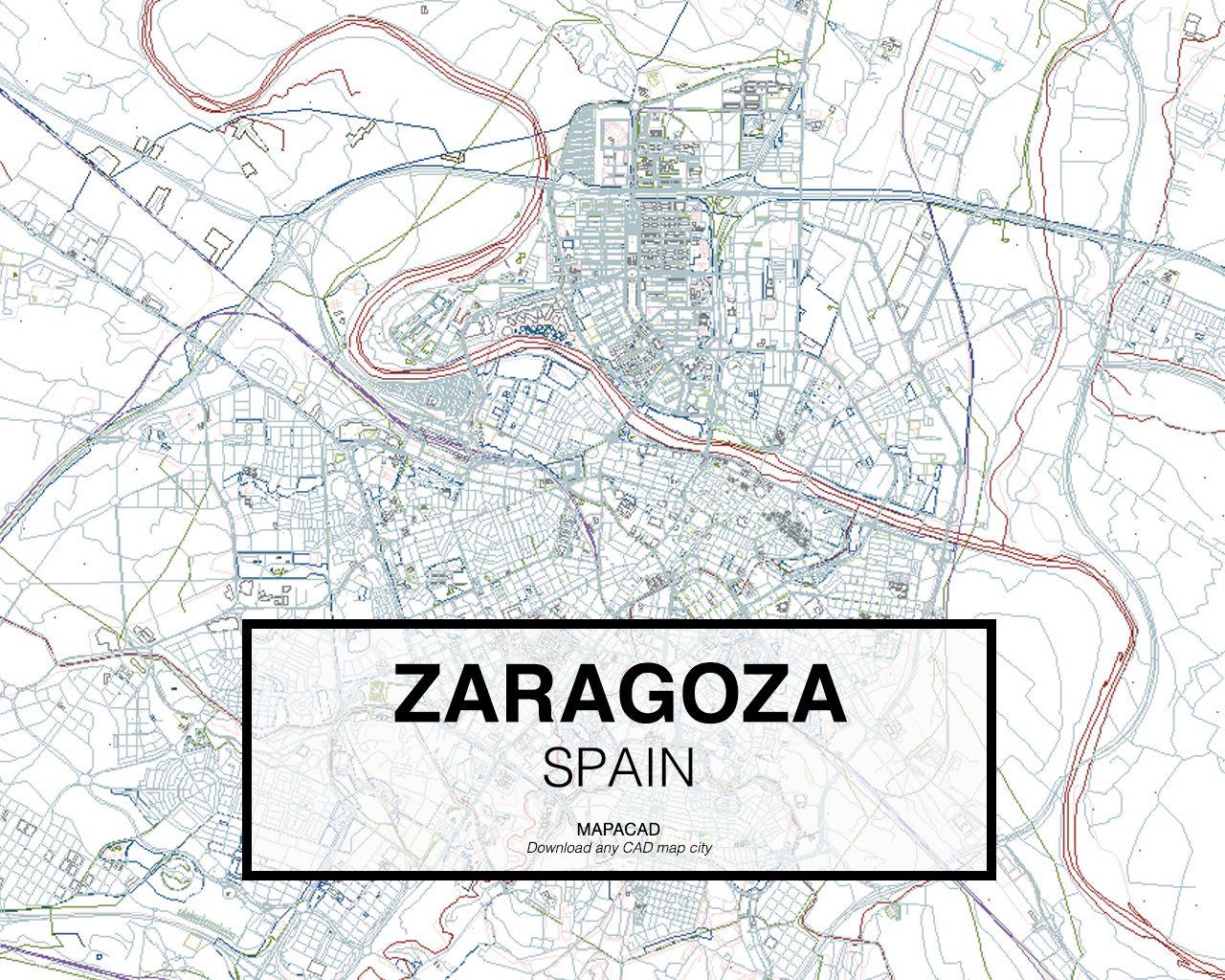 Zaragoza Spain Download Cad Map City In Dwg Ready To Use In  # Muebles Lazaro Zaragoza