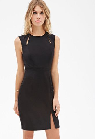 2cfae7fed1f87 Smartly tailored with sleek cutout details, this black dress is an office  must! Pair with a statement necklace and killer pumps and prepare to dazzle.